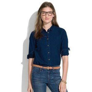 Madewell Indigo Chambray Button Down Shirt